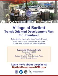 Bartlett TOD Plan Community Meeting 1 Flyer
